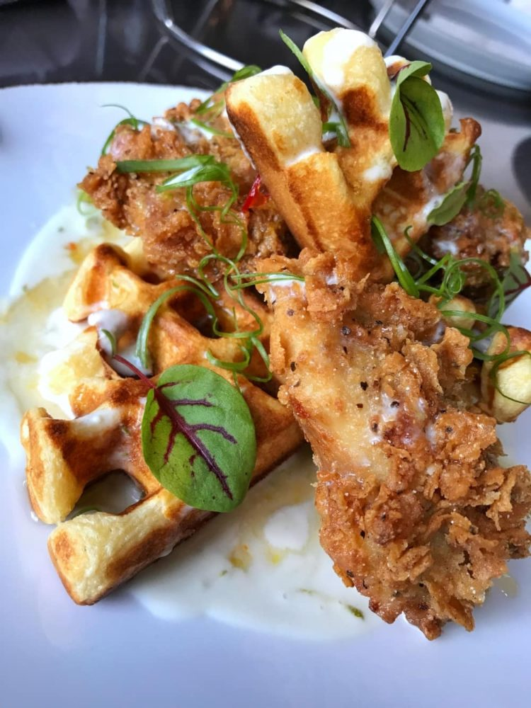 When Sweet and Savoury go hand in hand: Fried Chicken and Waffles from Carbon Bar.