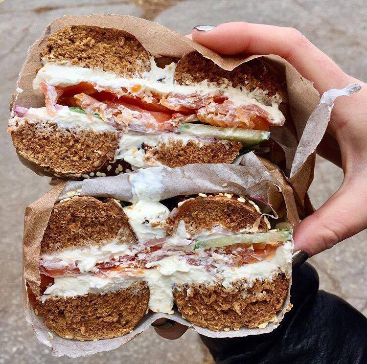 When bae is in the form of a bagel! Schmaltz Appetizing Bagel with Cream Cheese & Lox.
