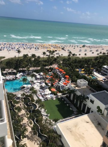 View from our Hotel Room at the Loews Miami Beach Hotel
