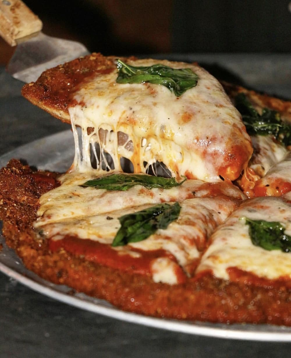 Chicken Parmesan Pizza from Quality Eats in New York City! Photo courtesy of @TheNaughtyFork