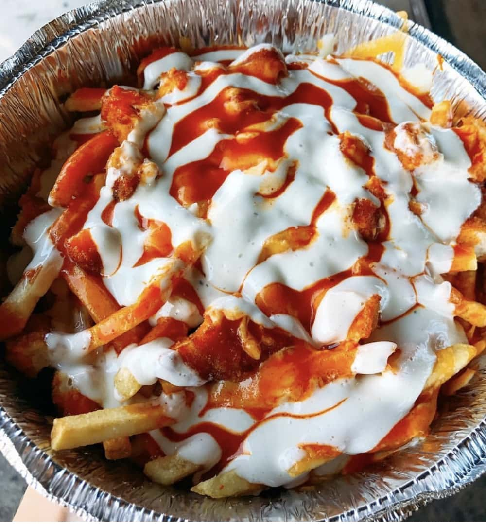Buffalo Chicken Fries from Fat Sal's Deli! Photo courtesy of @ImHungry