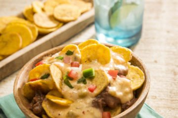 Plantain Nachos Made with Almond Breeze